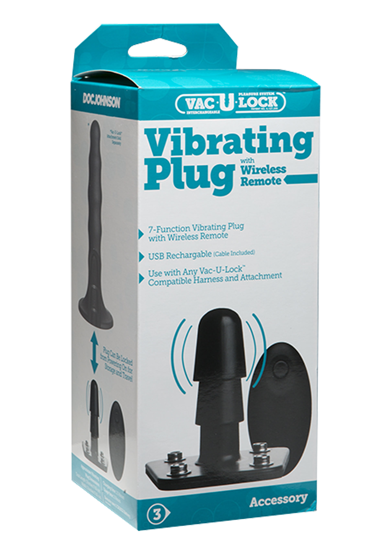 VAC-U-LOCK Vibrating Plug with Remote.